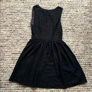 Black Chiffon Dress, American Apparel